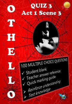'Othello' by William Shakespeare - Quiz on Act 1 Scene 3