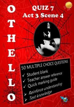 'Othello' by William Shakespeare - Quiz on Act 3 Scene 4