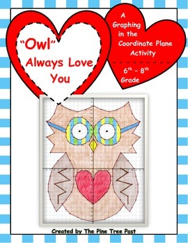 """Owl"" Always Love You [Coordinate Plane Graphing Activity]"