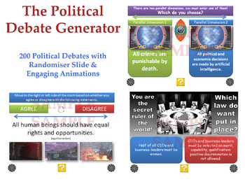 [P4C] The Political Debate Generator - [200 Political Deba