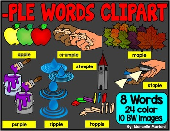 -PLE ENDING WORDS CLIP ART