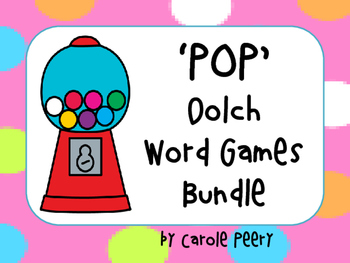 Dolch Word Games 'POP'