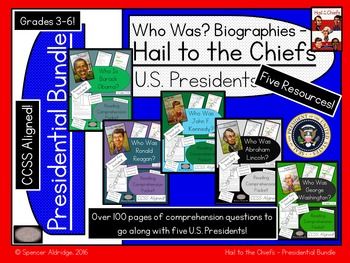 **PRESIDENTIAL BUNDLE** Who Was? - Hail to the Chiefs - U.