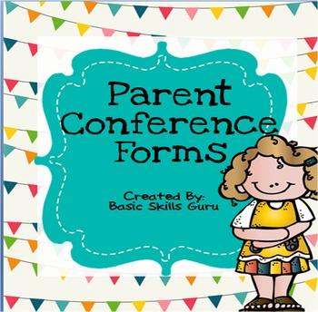 ~Parent Conference Forms~