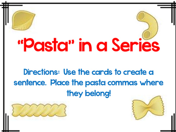 """""""Pasta"""" in a Series: Using Commas in a Series"""