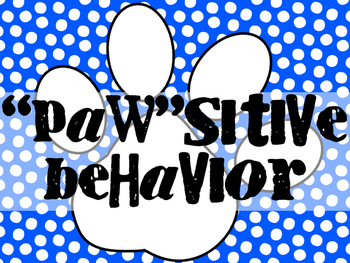 """Paw""sitive Behavior Clip Chart"