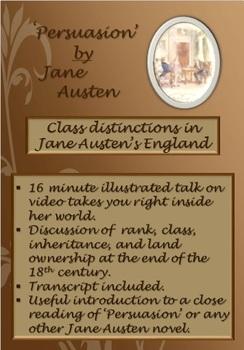'Persuasion' by Jane Austen - Class Distinctions in Jane A