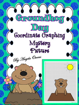 """""""Phil""""  Groundhog Day Coordinate Grid Mystery Picture"""