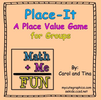 """Place-It""- A Practicing Place Value Game"