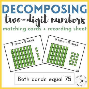 {Place Value} Decomposing 2-Digit Numbers Base Ten Blocks