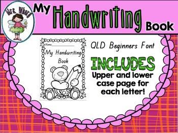 {QLD Font} Handwriting Book
