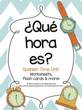¿Qué hora es?  Spanish Time