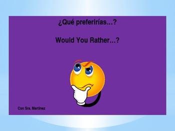 ¿Qué preferirías…? Would You Rather…?