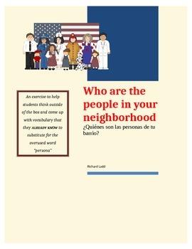 ¿Quiénes son las personas de tu barrio?