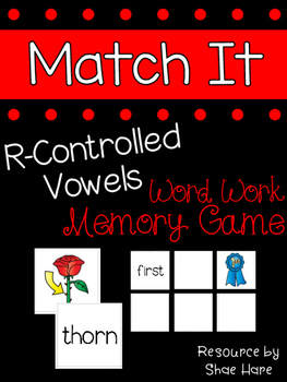 {R-Controlled Vowels Match It} Word Work Station Literacy