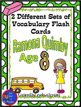 {RAMONA QUIMBY AGE 8 {VOCABULARY FLASH CARDS}