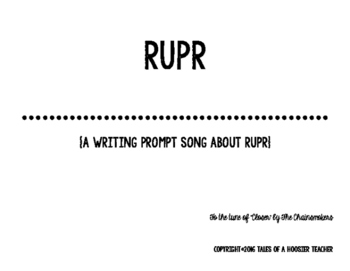 """RUPR"" Writing Prompt Song (tune of Chainsmokers' ""Closer"")"