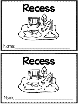 """Recess"" (A Back to School Emergent Reader Dollar Deal)"