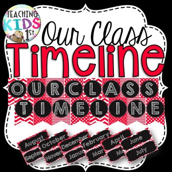 {Red, Black, White} Our Class Timeline Banner and Labels