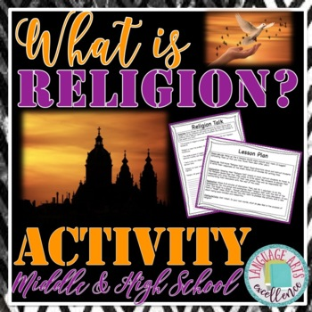 """Religion Talk"" Anticipatory Activity for Middle and High"