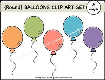 Round Balloons {Clip Art Set}