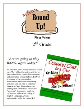 """""""Round Up!"""" Place Values 2nd Grade Common Core Game Packet"""
