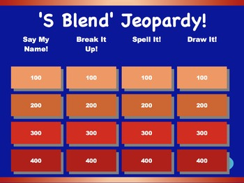 'S Blend' Jeopardy Games!  {9 games}
