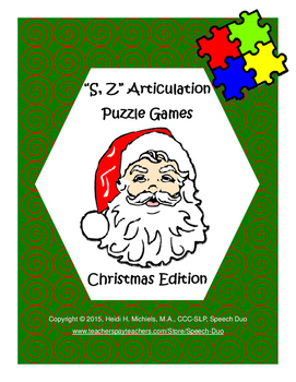 """""""S, Z"""" Articulation Puzzle Pack: Christmas Theme"""