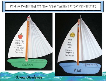 """FREE """"Sailing Into ... """" Beginning And End Of The Year Gift"""