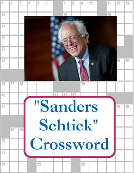 """""""Sanders Schtick"""" Crossword Puzzle"""