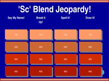 'Sc' Blend Jeopardy!