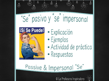 """Se"" pasivo y ""se"" impersonal / Powerpoint on passive & im"