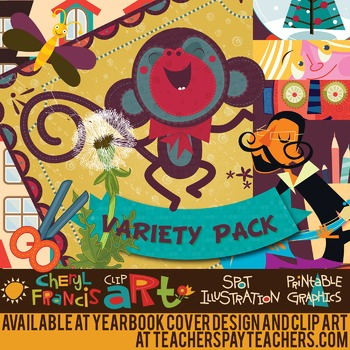 Huge Variety Pack of Brand New Clip Art containing 101 images.