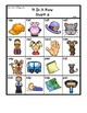 Colored 'Short a' cvc / simple word Bingo-style Four In a