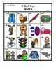 Colored 'Short e' cvc / simple word Bingo-style Four In a
