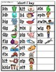 Colored 'Short i' cvc / simple word Bingo-style Four In a