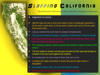 """Slapping"" California: an epic game to locate cities, geog"