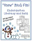 """""""Snow"""" Much Fun- Kindergarten Literacy and Math"""