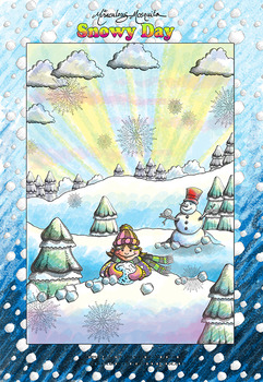 'Snowy Day' Coloring Page Printable