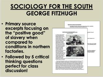 """Sociology for the South"" - George Fitzhugh - Antebellum E"