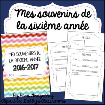 {Souvenirs de la sixième année!} A memory book for the end