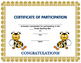 (Spelling Bee Certificates)