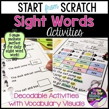 """""""Start from Scratch"""" Sight Words ~ Sight words in Context"""