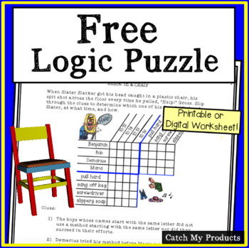 """""""Stuck in a Chair"""" Logic Problem to Challenge Gifted and T"""