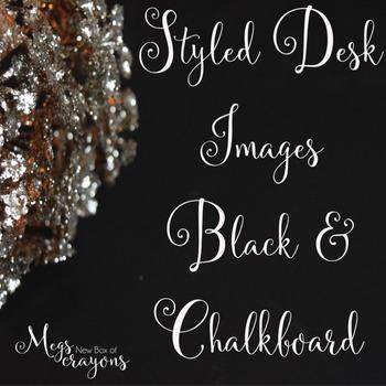Styled Desk Image Bundle- Chalkboard/Black