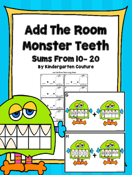 (Sums to 20) Add The Room Monster Teeth -Ten Frames