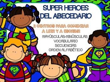 """""""Super héroes del abecedario"""". Iniciación a la lectoescrit"""