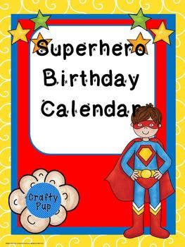 """Superb"" Birthday Calendar Poster Size"