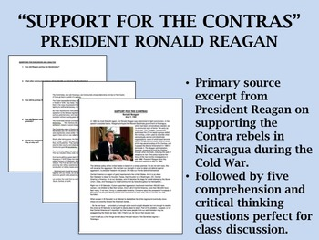 """""""Support for the Contras (1984)"""" - Ronald Reagan - Cold Wa"""