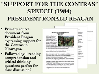 """""""Support for the Contras"""" Speech - President Reagan - US H"""